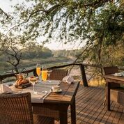 Dulini River Lodge, Dining Area with Breakfast served