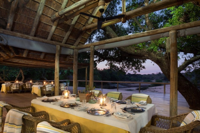 Thornybush Game Lodge, Dinning Area