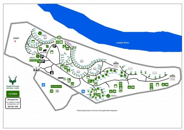 Letaba Camp Map