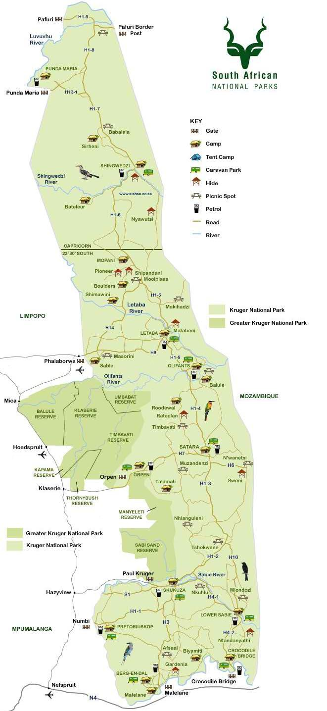 KNP Map Safaria