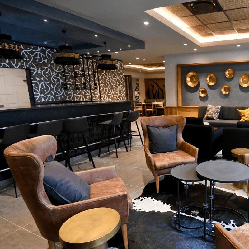 Skukuza lodge bar area