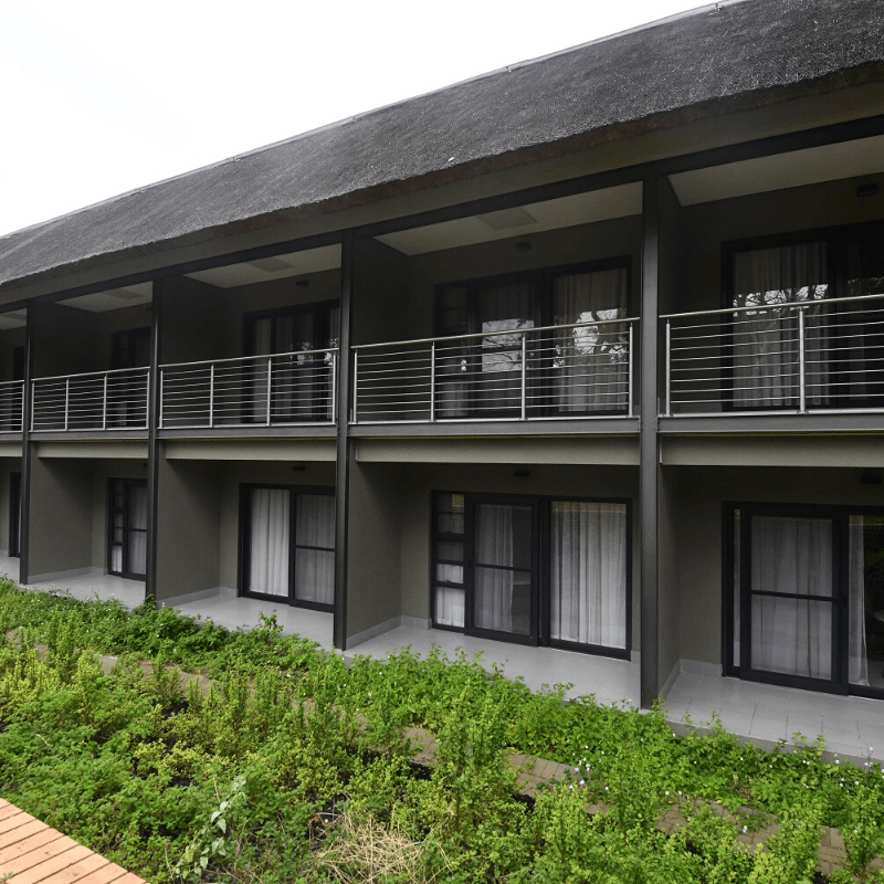 Skukuza lodge room patios