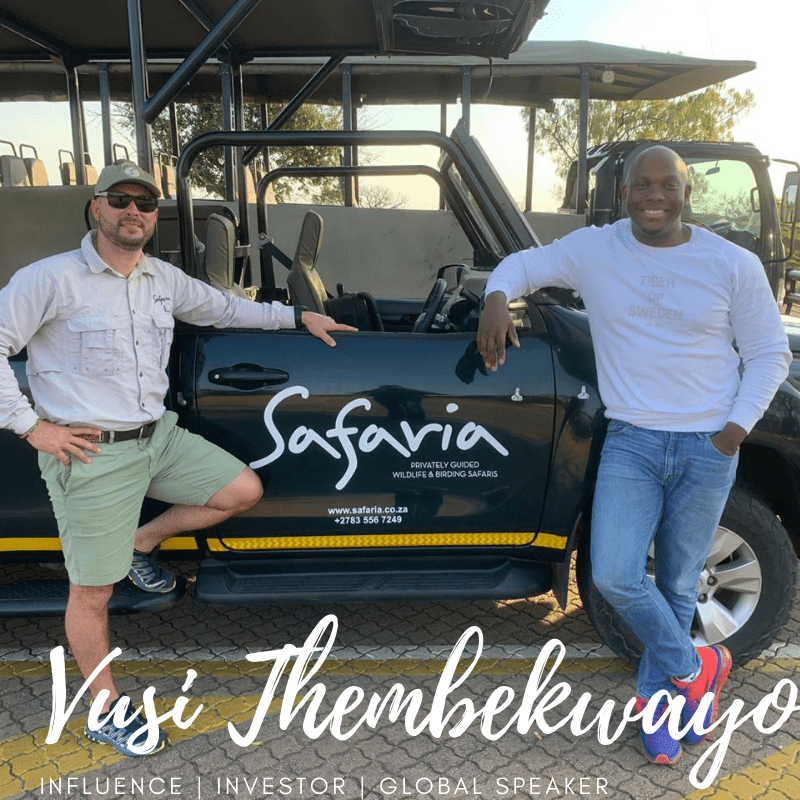 Vusi Thembekwayo on Safari